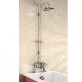 Burlington Bath Shower Mixer With Rigid Riser, Shower Arm & 9