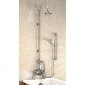 Burlington Bath Shower Mixer With Rigid Riser, 6