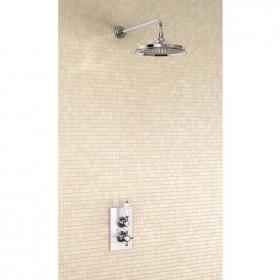 Burlington Trent Concealed Thermostatic Shower Valve, Straight Arm & 9