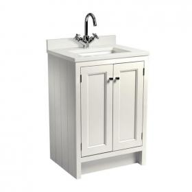 Roper Rhodes Hampton 600mm Chalk White Underslung Vanity Unit, Basin & Worktop