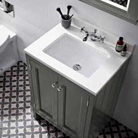Roper Rhodes Hampton 600mm Pewter Underslung Vanity Unit, Basin & Worktop