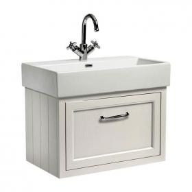 Roper Rhodes Hampton 700mm Chalk White Wall Mounted Vanity Unit & Basin
