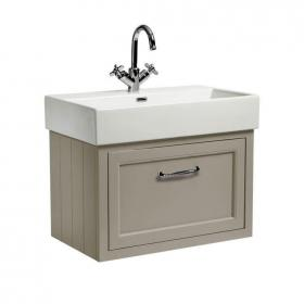 Roper Rhodes Hampton 700mm Mocha Wall Mounted Vanity Unit & Basin