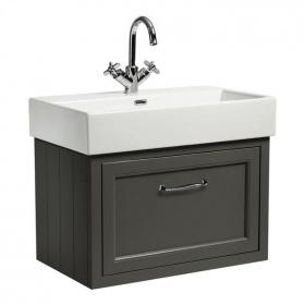 Roper Rhodes Hampton 700mm Pewter Wall Mounted Vanity Unit & Basin