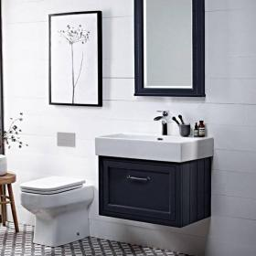 Roper Rhodes Hampton 700mm Slate Grey Wall Mounted Vanity Unit & Basin