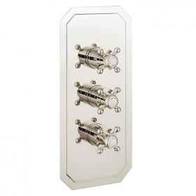Crosswater Belgravia Crosshead 3000 Nickel Shower Valve With 3 Way Diverter