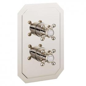 Crosswater Belgravia Crosshead Nickel 1500 Shower Valve With 2 Way Diverter