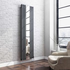 Hudson Reed Revive Anthracite Single Panel Radiator With Mirror