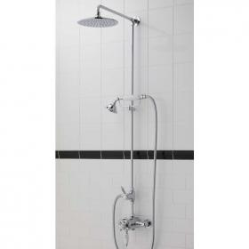 Imperial Westminster Exposed Shower Valve With Rigid Riser Kit, Amena Head & Handset