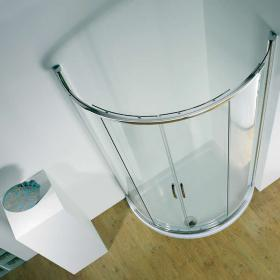 Kudos Infinite Offset Curved Centre Access Shower Enclosure & Tray