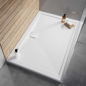 Simpsons Kai 1400 x 800mm 25mm Anti Slip Stone Resin Rectangle Shower Tray