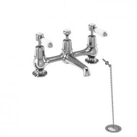 Burlington Kensington 2 Tap Hole Bridge Basin Mixer With High or Low Indice