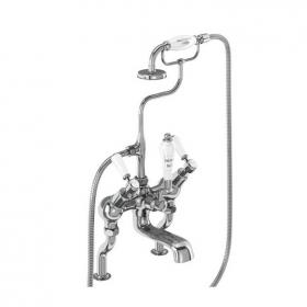Burlington Kensington Angled Deck Mounted Bath Shower Mixer