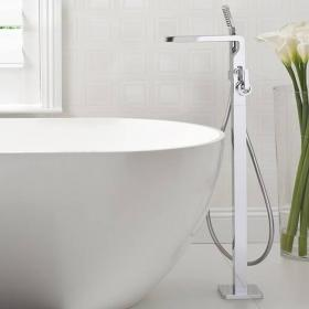 Crosswater Kelly Hoppen Zero 1 Floorstanding Bath Shower Mixer With Kit