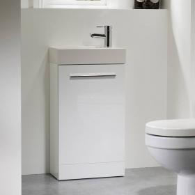Tavistock Kobe 450mm Gloss White Freestanding Unit & Basin