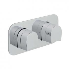 Vado Kovera Thermostatic Landscape Shower Valve With Two Outlets