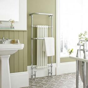 Hudson Reed Brampton Floor Mounted Heated Towel Rail