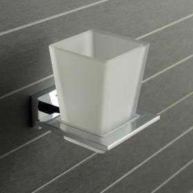 Vado Level Frosted Glass Tumbler & Holder