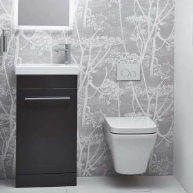Roper Rhodes Esta Matt Carbon 460mm Freestanding Unit & Basin