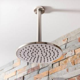 Crosswater Mike Pro Brushed Stainless Steel 200mm Fixed Shower Head