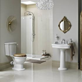 Heritage Victoria Close Coupled Toilet & Basin Set