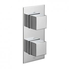 Vado Notion Single Outlet Two Control Thermostatic Shower Valve