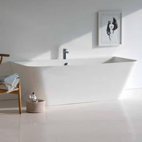 Clearwater Patinato Petite Clear Stone Freestanding Bath
