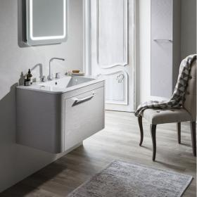 Bauhaus Celeste 800mm Pebble Vanity Unit & Basin