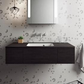 Bauhaus Pier 1000mm Anthracite Wall Hung Console Unit & Basin