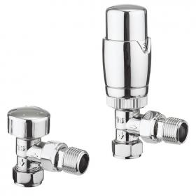 Bauhaus Pier 15mm Angled TRV Thermostatic Radiator Valves
