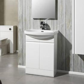 Roper Rhodes Profile Gloss White 600mm Freestanding Unit & Basin