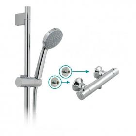 Vado Prima Exposed Thermostatic Shower Valve & Sliding Rail Kit