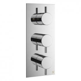 Crosswater Mike Pro Chrome Thermostatic Triple Shower Valve