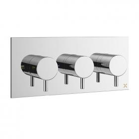 Crosswater Mike Pro Chrome Thermostatic Landscape Shower Valve