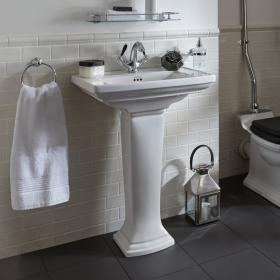 Imperial Radcliffe Medium 600mm Basin & Pedestal