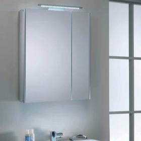 Roper Rhodes Refine Aluminium Slimline Mirror Cabinet With Light