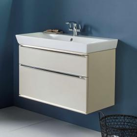 Roper Rhodes Scheme 800mm Gloss Calico Wall Mounted Vanity Unit & Basin