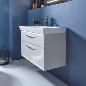 Roper Rhodes Scheme 800mm Gloss Mist Wall Hung Vanity Unit & Basin