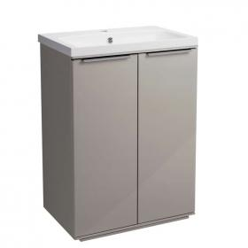 Roper Rhodes Scheme 600mm Gloss Warm Grey Freestanding Unit & Basin