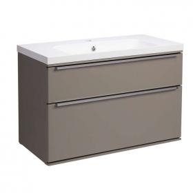 Roper Rhodes Scheme 800mm Matt Light Clay Wall Hung Vanity Unit & Basin