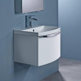 Roper Rhodes Serif 600mm White Gloss Wall Mounted Vanity Unit & Basin