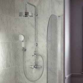 Heritage Gracechurch Exposed Shower With Deluxe Fixed Riser Kit & Handset