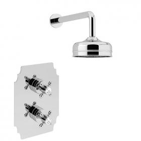 Heritage Hartlebury Recessed Shower Valve With Premium Fixed Head Kit