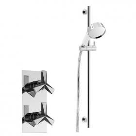 Heritage Hemsby Recessed Shower Valve With Deluxe Flexible Riser Kit