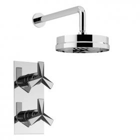 Heritage Hemsby Recessed Shower Valve With Deluxe Fixed Shower Head