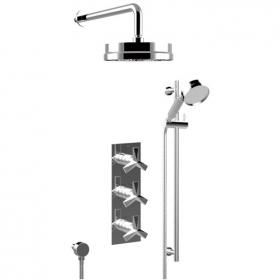 Heritage Hemsby Recessed Shower Valve With Fixed Head & Handset