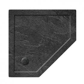 Simpsons 1000 x 1000mm Pentangle 35mm Grey Slate Effect Shower Tray