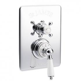 St James Concealed Thermostatic Shower Valve - London Handle