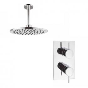 Crosswater Kai Lever Shower Valve With Ceiling Round Shower Head