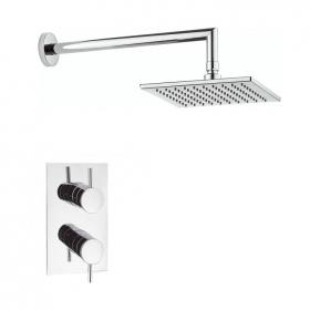 Crosswater Kai Lever Shower Valve With Square Shower Head & Arm